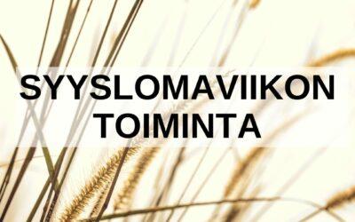 Syyslomalla 18.-22.10.